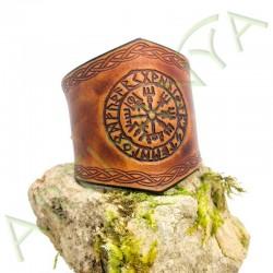 vue de couverture du Bracelet Ilythiir Vegvisir_couleur marron