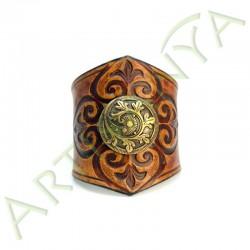 vue de face du Bracelet Ilythiir Force of nature_couleur marron