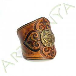 vue de 3/4 du Bracelet Ilythiir Force of nature_couleur marron