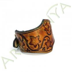 vue de 3/4 du Bracelet Famar lierre_couleur marron