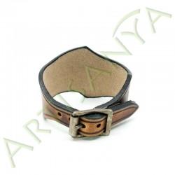 vue de dos du Bracelet Famar lierre_couleur marron