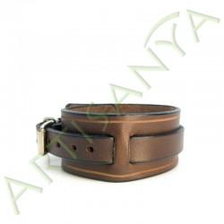 vue de côté du Bracelet de Force marron 1 sangle