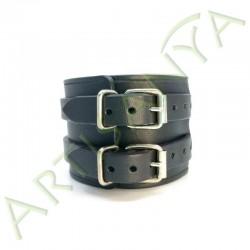 vue de dos du Bracelet de Force noir 2 sangles
