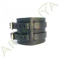 vue de côté du Bracelet de Force noir 2 sangles