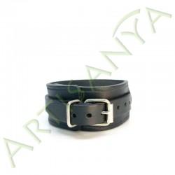 vue de dos du Bracelet de Force noir 1 sangle