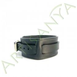 vue de côté du Bracelet de Force noir 1 sangle