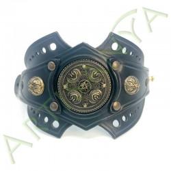 vue ouverte de face du Bracelet Ragnar manchette_ Nordique