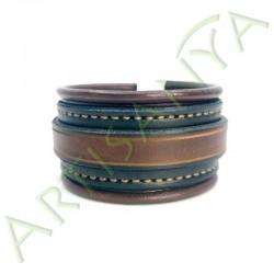 vue de face du Bracelet Elégance_noir et marron