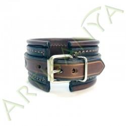 vue de dos du Bracelet Elégance_noir et marron