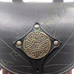 vue détaillée du Sac bourse_ Feuille des Druides