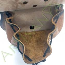 vue intérieure avec soufflet ouvert de l'Escarcelle en cuir Cul-de-vilain_Griffons